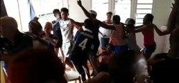 La joie des proches de Raphaël Varane après la victoire des Bleus en Coupe du monde - Foot - CM 2018