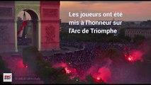 France championne du monde : Les visages des joueurs projetés sur l'Arc de Triomphe