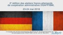 Ateliers franco-allemands de coopération administrative des 23 et 24 mai 2018