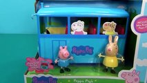 Le bus de Peppa Pig. Un nouveau jouet autobus scolaire Peppa Pig. School-bus Peppa Pig