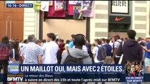 La boutique Nike des Champs-Elysées est fermée, les supporters campent devant pour avoir le maillot aux deux étoiles