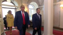 Trump arrives at Finland presidential palace for Putin meeting