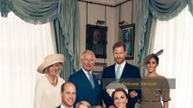 Prince George Grins In Prince Louis' Christening Portraits