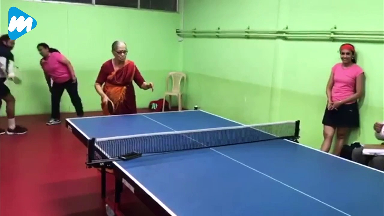 Watch Indian Grandma Play Table Tennis | Viral News | Viral Mojo