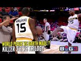 Ron Artest KICKS Ball Into The Crowd & Gets Ejected! PISSED at Ref!  Killer 3's vs Trilogy @ Big 3!