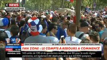 Des dizaines de milliers de supporters sont déjà sur le Champs de Mars à Paris