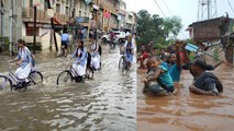 Gujarat Heavy Rainfall causes Flood Like Situation In Several Parts   Oneindia News