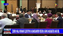 Zubiri: Wala munang eleksyon sa Bangsamoro region kapag naisabatas ang BBL; Tulong sa mga maapektuhang empleyado sa pagpasa ng BBL, tiniyak