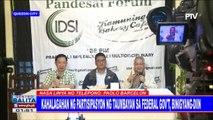 Kahalagahan ng partisipasyon ng taumbayan sa federal gov't, binigyang-diin