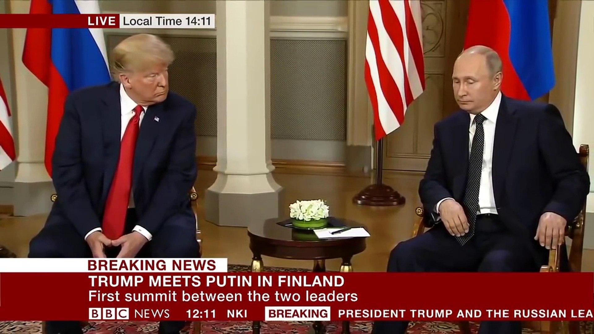 BREAKING NEWS- Trump and Putin meeting begins- BBC News