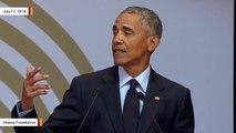 Obama Delivers Nelson Mandela Lecture: 'Strongman Politics Are Ascendant'