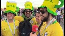 """On a chauffé les supporters brésiliens: """"C'est vous qui allez rentrer à la maison"""""""