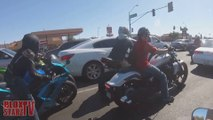 Cops VS Motorcycle POLICE CHASE Biker DRAGS COP Running From The COPS Street Bike CRASHES FAILS 2016
