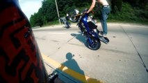 Freestyle Street Bike CRASH Wheelie On Highway Motorcycle CRASHES Stunts ACCIDENTS FAIL