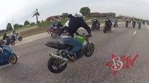 CRAZY Street Bike BUNNY HOP On Highway At Streetfighterz Ride Of The Century ROC Motorbike STUNTS