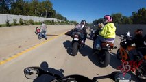 INSANE Motorcycle ACCIDENT Street Bike CRASHES Wheelie Causing Big Bike Pile Up CRASH On Highway
