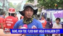 NEWS: Rains, high tide flood many areas in Malabon City
