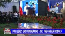 NEWS: Du30 leads groundbreaking for 2 Pasig River bridges