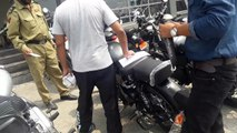 TAKING DELIVERY OF ROYAL ENFIELD STEALTH BLACK CLASSIC 500-ROYAL ENFIELD LOHAAR
