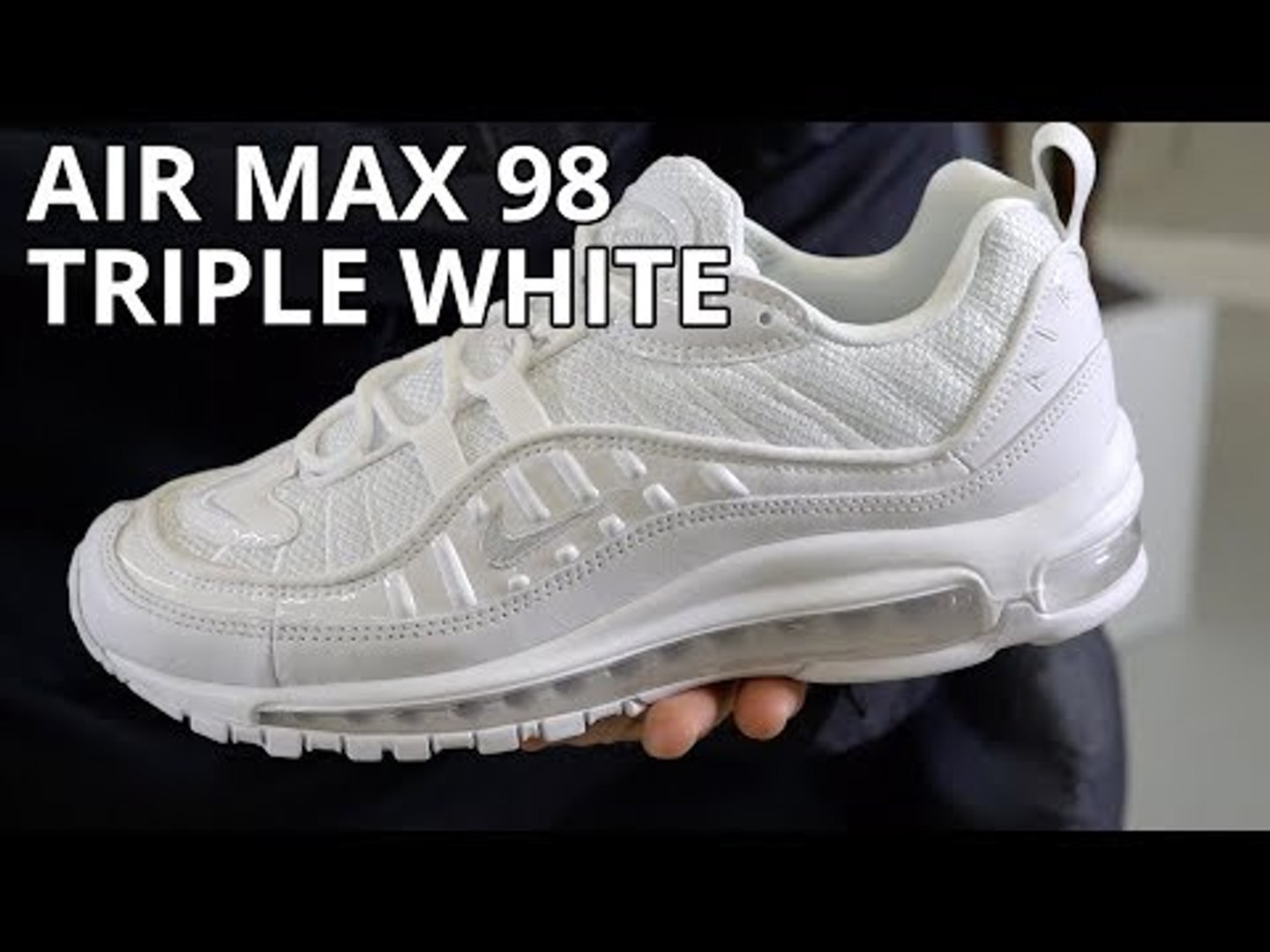 separation shoes c1502 15752 Nike Air Max 98 Triple White Review / Unboxing / On Feet Look