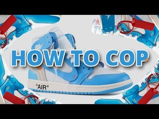 HOW TO COP Off White Jordan 1 UNC    Top Tips For Nike Website With Links & Raffles