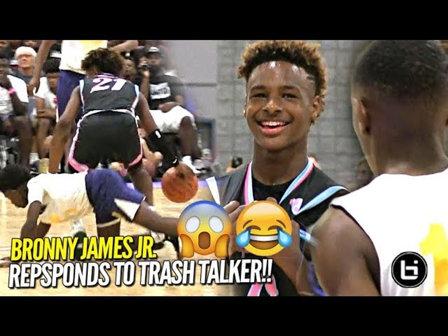 Bronny James Jr Responds To Trash Talker At First Day Of Usba Nationals Full Highlights Video Dailymotion