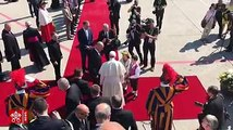Recap of the first part of Pope Francis' visit to Geneva on Thursday:The Pope is welcomed by the Swiss President, and prays at the Ecumenical Institute at Boss