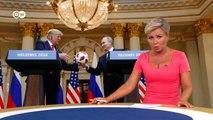 Трамп шокировал Запад своим поведением на саммите с Путиным в Хельсинки - DW Новости (17.07.2018)