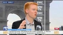 """""""Ce que fait Emmanuel Macron n'est pas efficace ni pragmatique"""", estime Adrien Quatennens"""