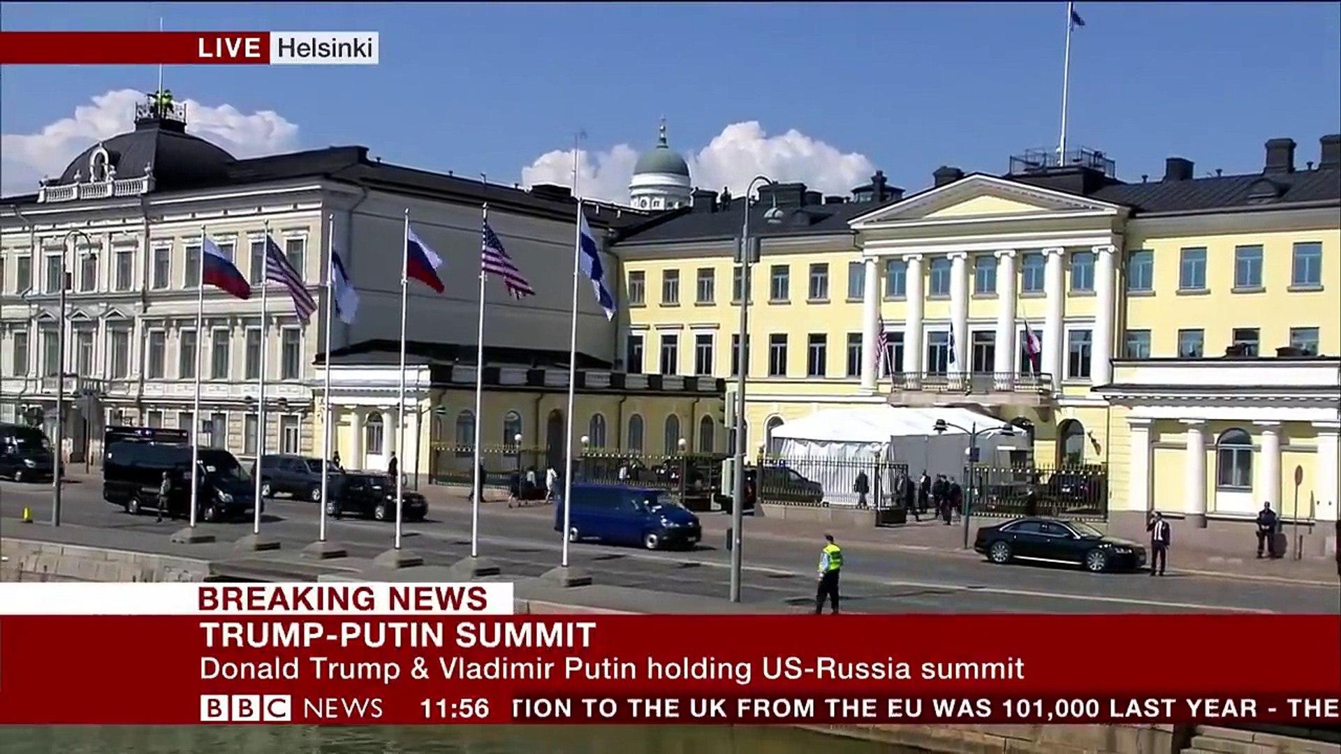 Trump-Putin summit- Trump arrives at palace - BBC News