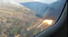 Atterrissage d'urgence filmé de l'intérieur de l'avion !