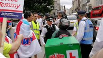 Tommy Robinson supporters confront pizza delivery man during former EDL leader appeal