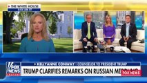 Kelly Anne Conway Says Trump's Rebuttal Statement Should Be the Focus, Not Putin Presser
