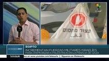 Israel aumenta presencia militar en frontera con Gaza