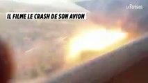 Il filme le crash de son avion
