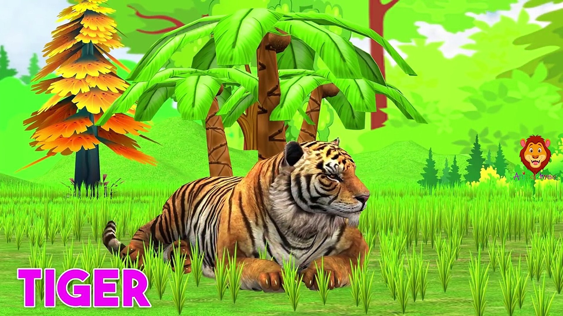 Animals Train Video For Kids _ Animals Cartoons For Children _ Learn Colors With Animals For Babies