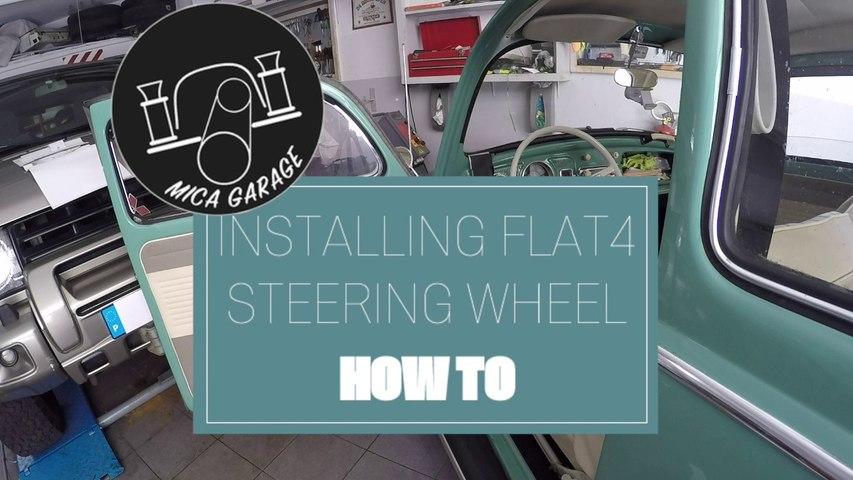 VW Beetle 1963 - Intalling Flat4 Steering Wheel - DIY