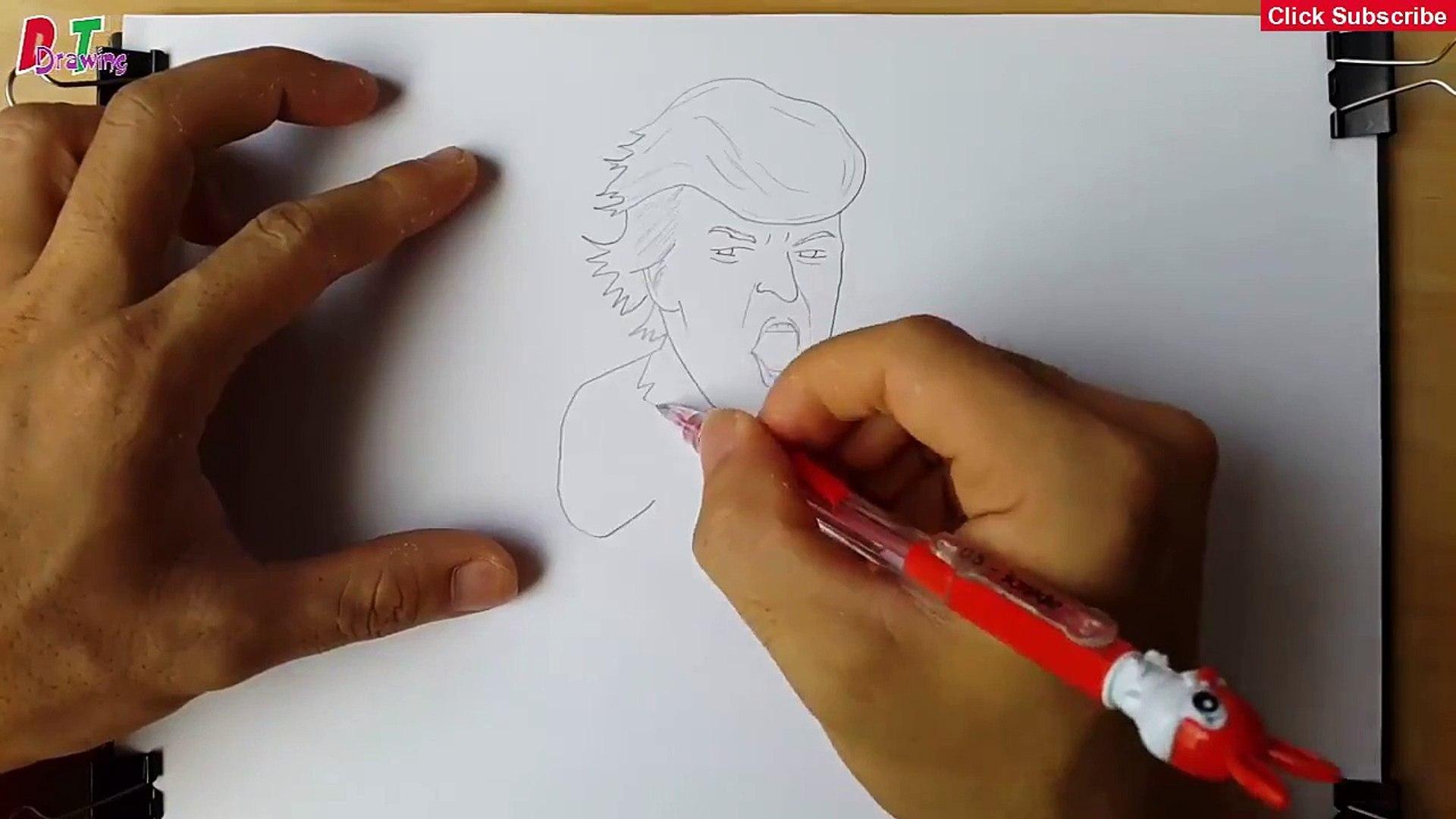 Donald Trump - 3D Drawing Donald Trump - How To Draw Donald Trump