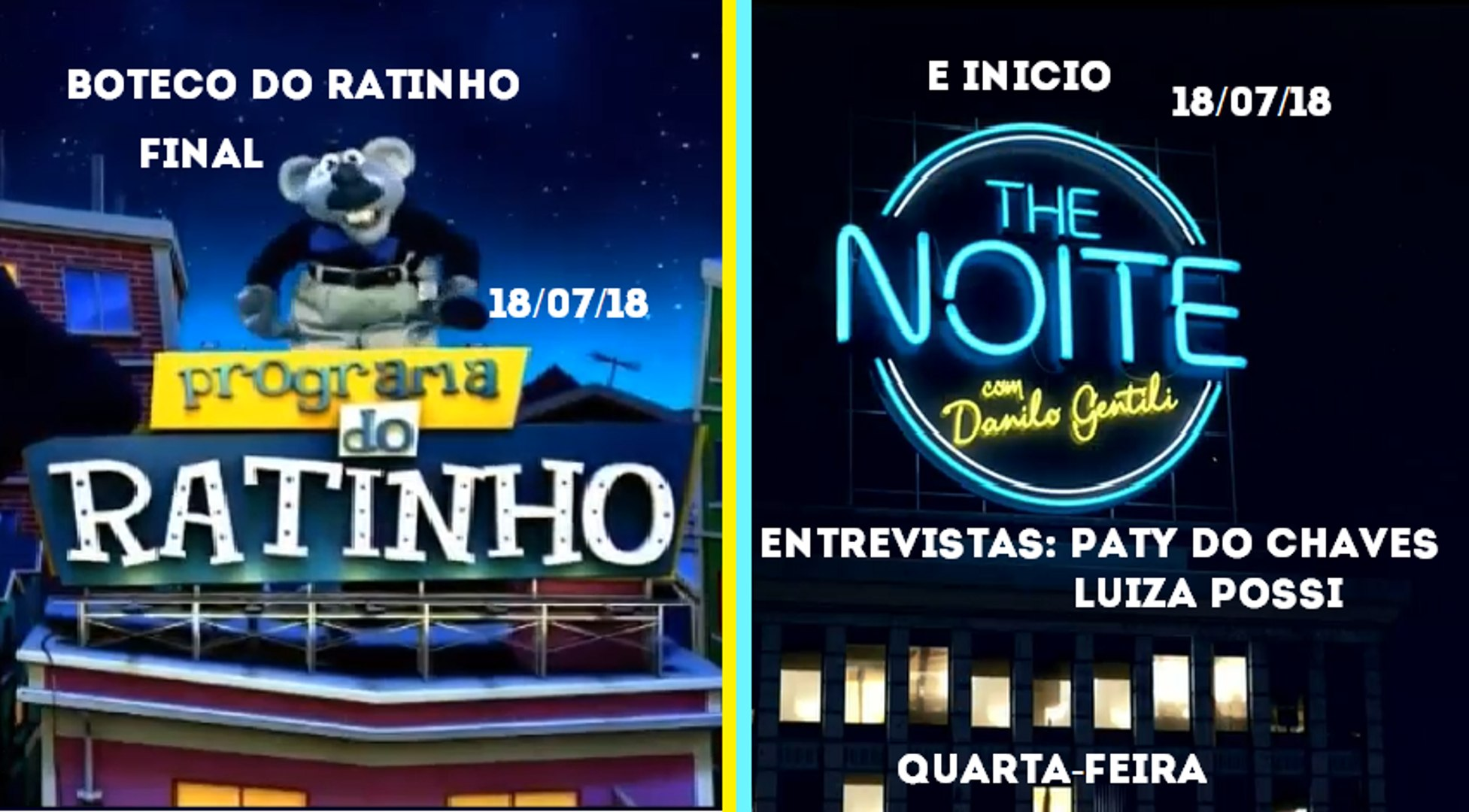Final Programa do Ratinho (Boteco do Ratinho) e inicio The Noite (18/07/18) | SBT