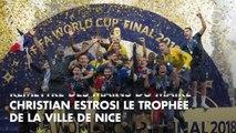PHOTOS. Coupe du monde 2018 : Hugo Lloris accueilli en héros à Nice avec sa femme Marine et ses deux filles