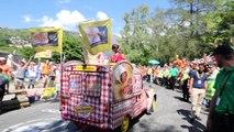 Tour de France : Ambiance à l'Alpe d'Huez  dans le virage 7, le virage des Hollandais
