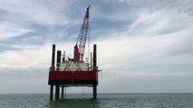Pour trois mois d'étude, la plateforme Excalibur a pris ses quartiers au large de Dieppe