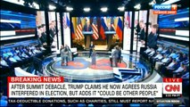 """After Summit DEBACLE, TRUMP Claims He Now Agrees RUSSIA interfered in Election, But ADDS it """"COULD BE OTHER PEOPLE"""". #BreakingNews #DonaldTrump #News #FoxNews #CNN."""