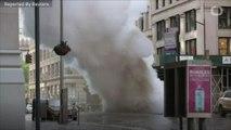 New York steam pipe explosion creates urban geyser, no injuries