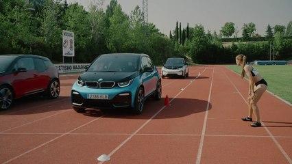 El nuevo BMW i3 se enfrenta a las campeonas de España de relevos
