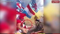 Chute de Vincenzo Nibali sur les pentes de l'Alpe d'Huez