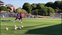 Jan Oblak incredible bicycle kick goal in Atletico training!
