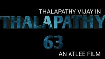 Thalapathy 63 announcement | Thalapathy Vijay, Atlee | AGS ENTERTAINMENT