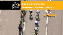 Vue aérienne sur le sprint intermédiaire / Bird's eye view of the intermediate sprint - Étape 13 / Stage 13 - Tour de France 2018