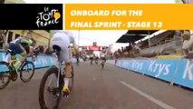 Caméra embarquée sur le sprint / Onboard camera for the sprint - Étape 13 / Stage 13 - Tour de France 2018